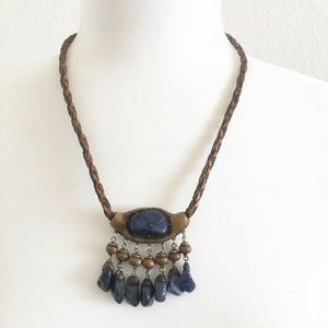 Artisan Sodalite Gemstone Clay Necklace